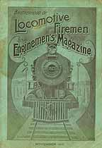 Thumbnail image of Locomotive Firemen and Enginemen's Magazine 1910 November cover