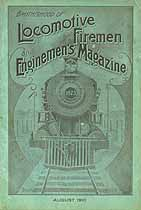 Thumbnail image of Locomotive Firemen and Enginemen's Magazine 1910 August cover