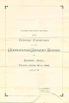 Thumbnail image of Charleston Convent School 1896 Closing Exercises cover