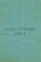 Thumbnail image of Derby Academy 1901-2 Catalogue cover