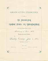 Thumbnail image of Philadelphia Training School for Kindergartners 1884 Graduation cover
