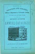 Thumbnail image of Columbia College 1884 Medical Department Catalogue cover
