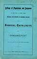 Thumbnail image of Columbia College 1887 Medical Department Catalogue cover