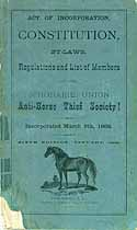 Thumbnail image of Schoharie Union Anti-Horse Thief Society 1879 By-Laws cover