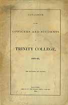 Thumbnail image of Trinity College 1868-69 Catalogue cover