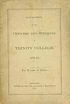 Thumbnail image of Trinity College 1877-78 Catalogue cover