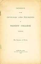 Thumbnail image of Trinity College 1892-93 Catalogue cover