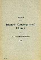 Thumbnail image of Brandon Congregational Church 1910 Manual cover