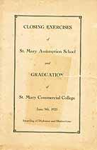 Thumbnail image of St. Mary Assumption School 1925 Closing Exercises cover