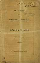 Thumbnail image of Bowdoin College 1840 Catalogue cover