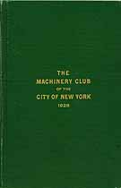Thumbnail image of Machinery Club of New York City 1928 Members cover