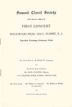 Thumbnail image of Summit Choral Society 1909-1910 Program cover