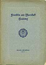 Thumbnail image of Franklin and Marshall Academy 1911-1912 Catalogue cover