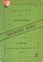 Thumbnail image of Massachusetts Soldiers' Home 1889 Report cover