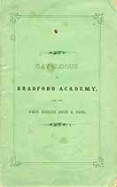 Thumbnail image of Bradford Academy 1857 Catalogue cover