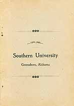 Thumbnail image of Southern University 1899-1900 Catalogue cover