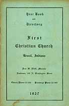 Thumbnail image of Brazil First Christian Church 1927 Year Book cover