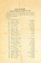 Thumbnail image of List of Registered Maine Embalmers 1913 cover