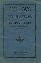 Thumbnail image of Hastings Lodge, A. F. & A. M. 1927 By-Laws cover