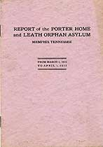Thumbnail image of Porter Home and Leath Orphan Asylum 1912-1913 Report cover