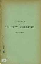 Thumbnail image of Trinity College 1891-92 Catalogue cover