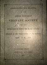 Thumbnail image of Green Township Vigilant Society 1897 By-Laws cover
