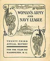 Thumbnail image of Woman's Army and Navy League 1910 Report cover
