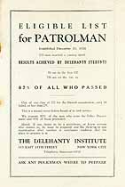 Thumbnail image of 1926 Eligible List for Patrolman in New York City cover