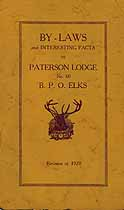 Thumbnail image of Paterson Lodge, No. 60, B.P.O.E. 1929 By-Laws cover