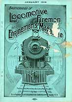 Thumbnail image of Locomotive Firemen and Enginemen's Magazine 1916 January cover