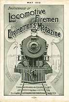 Thumbnail image of Locomotive Firemen and Enginemen's Magazine 1916 May cover