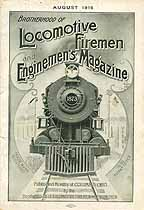Thumbnail image of Locomotive Firemen and Enginemen's Magazine 1916 August cover