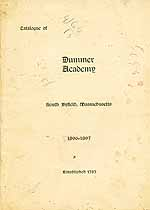 Thumbnail image of Dummer Academy 1896-97 Catalogue cover