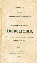 Thumbnail image of Stonington Union Association 1842 List of Ministers cover