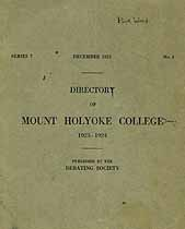 Thumbnail image of Mt. Holyoke College 1923-24 Directory cover