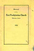 Thumbnail image of Marion First Presbyterian Church 1918 Manual cover