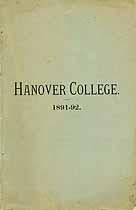 Thumbnail image of Hanover College 1891-92 Catalogue cover