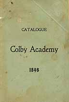 Thumbnail image of Colby Academy 1898 Catalogue cover