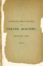Thumbnail image of Thayer Academy 1893-94 Catalogue cover