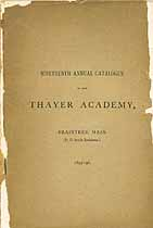 Thumbnail image of Thayer Academy 1895-96 Catalogue cover