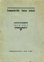 Thumbnail image of Leonardsville Union School 1910-11 Announcement cover