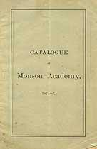 Thumbnail image of Monson Academy 1874 Catalogue cover