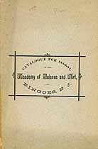 Thumbnail image of Ringoes Academy of Science and Art 1880-81 Catalogue cover