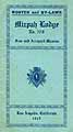 Thumbnail image of Mizpah Lodge No. 378, 1915 Roster cover