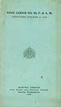 Thumbnail image of Ionic Lodge No. 90, 1922 Roster cover