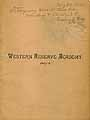 Thumbnail image of Western Reserve Academy 1887-8 Catalogue cover