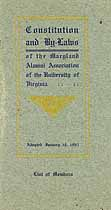 Thumbnail image of Maryland Alumni Association Univ. of Virginia 1905 Members cover