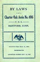 Thumbnail image of Charter Oak Aerie No. 406 F. O. E. 1921 By-Laws cover