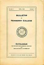 Thumbnail image of Newberry College 1925-26 Catalogue cover
