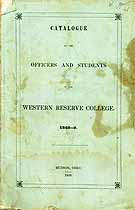 Thumbnail image of Western Reserve College 1848-9 Catalogue cover
